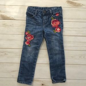 Gap baby girls 3 years embroidered skinny jeans